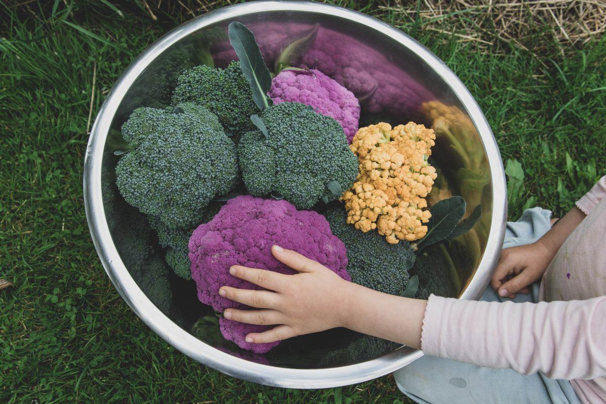 Förvälla broccoli och blomkål